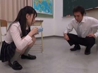 Nasty Schoolgirl Ichika Ayamori Shows To Teacher What Is the Reason Of Her Staying After Class