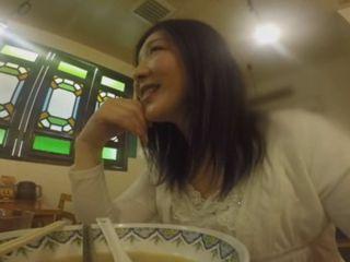 Asian Teens Relaxing After Dinner