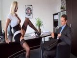 New Busty Secretary Will Do Anything To Please Her Hot Sexy Boss