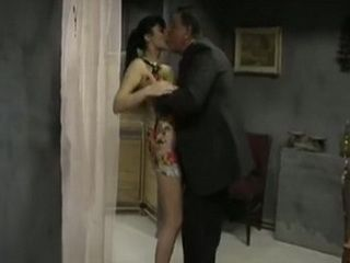 Stunning Brunette Gave An Unforgettable Experience And Pleasure To An Old Guys At Same Time