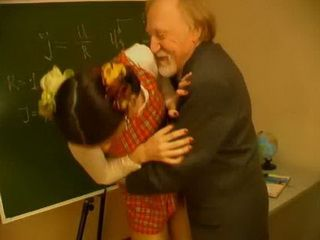 Because Of Inattention In Class Young Schoolgirl Punished By Nasty Old Professor